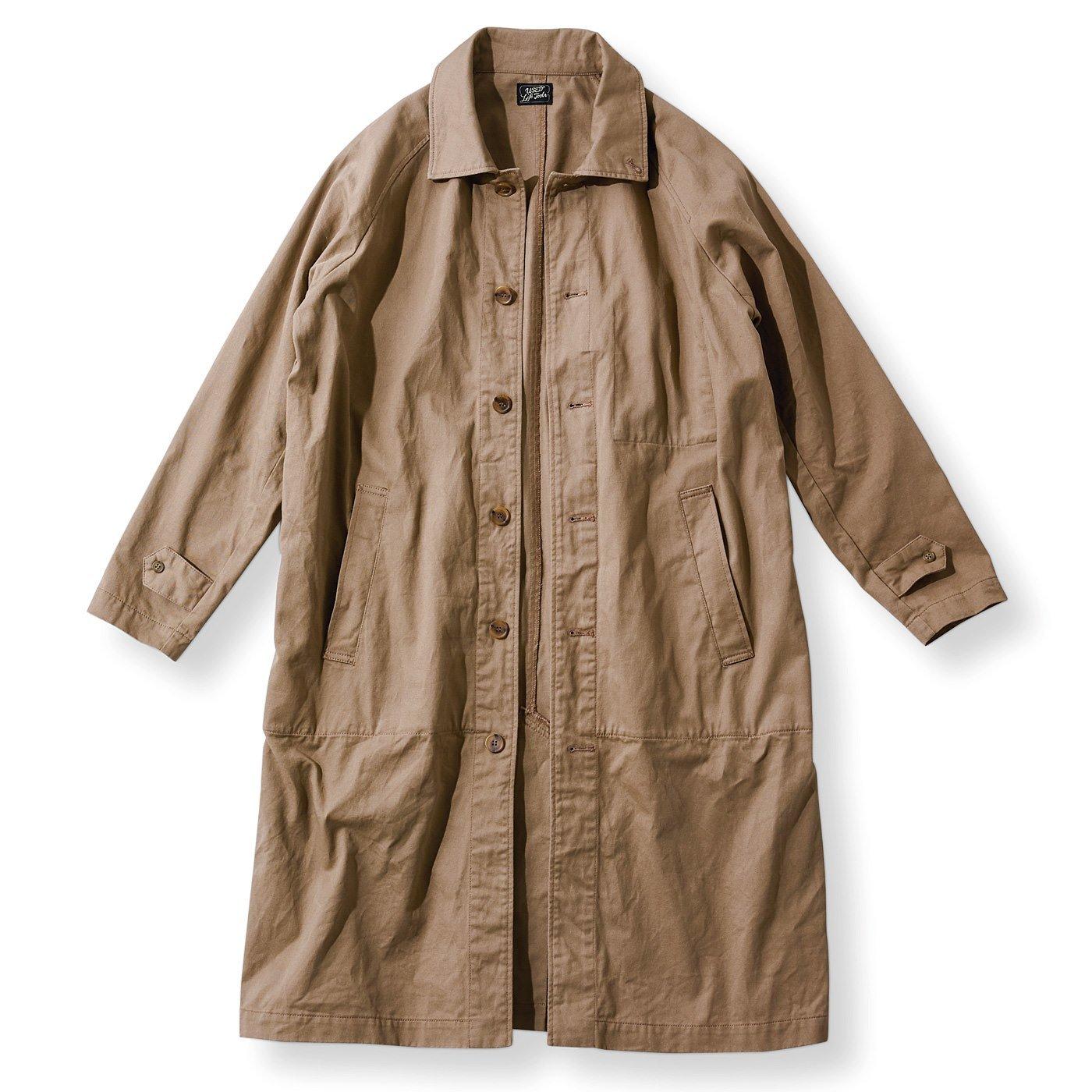 古着屋さんで見つけたような手ぶらでOK 9ポケットコート〈オールドベージュ〉