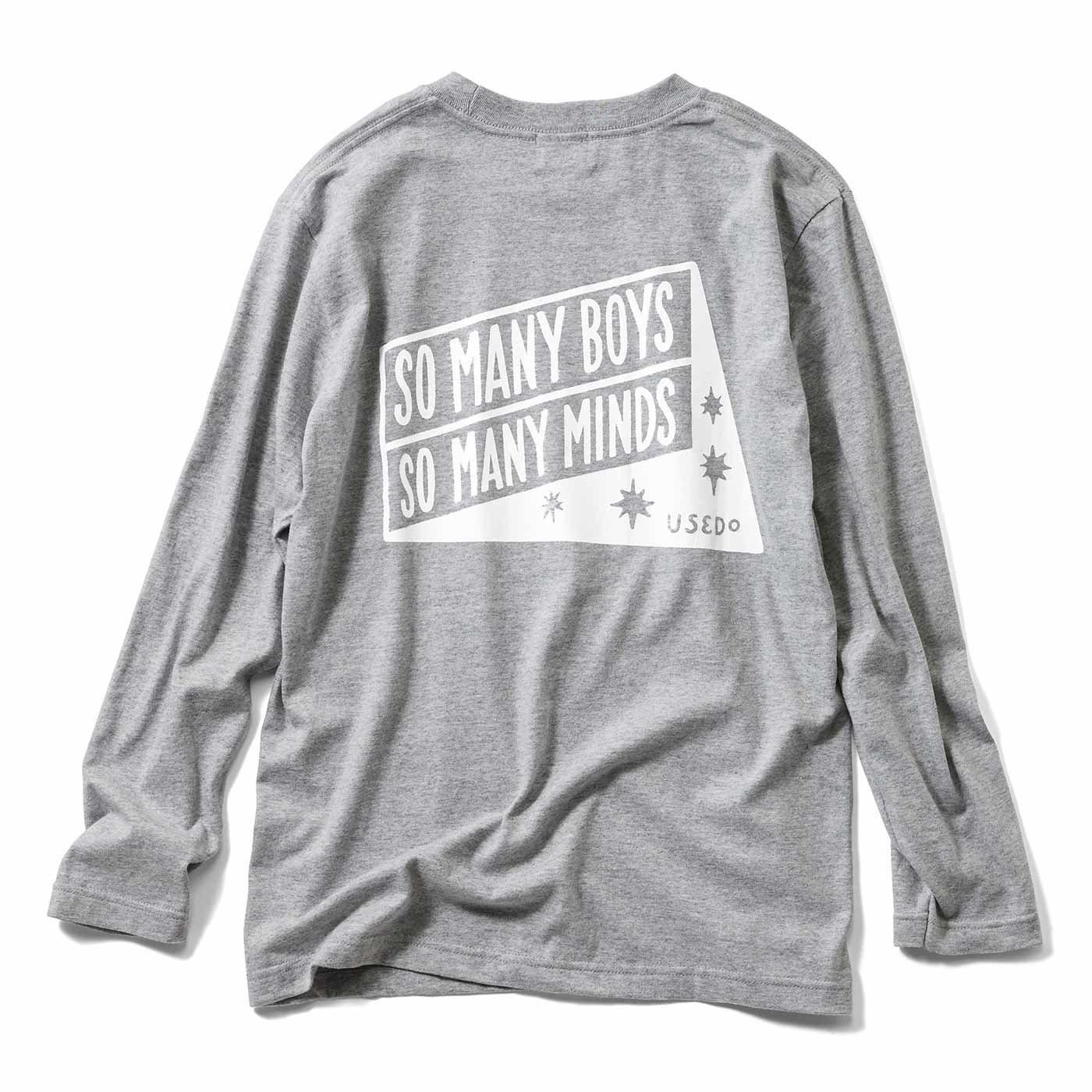 USEDo×CHALKBOY ボーイッシュ長袖Tシャツ〈グレー〉
