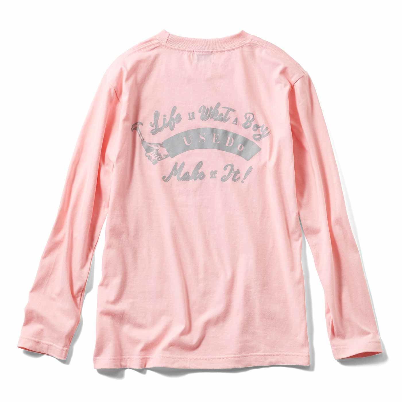USEDo×CHALKBOY ボーイッシュ長袖Tシャツ〈ピンク〉