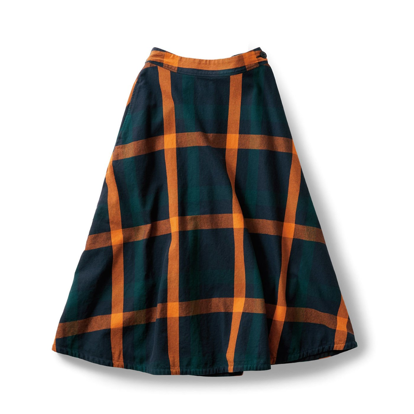 サニークラウズ 綿のブランケットなスカート〈レディース〉
