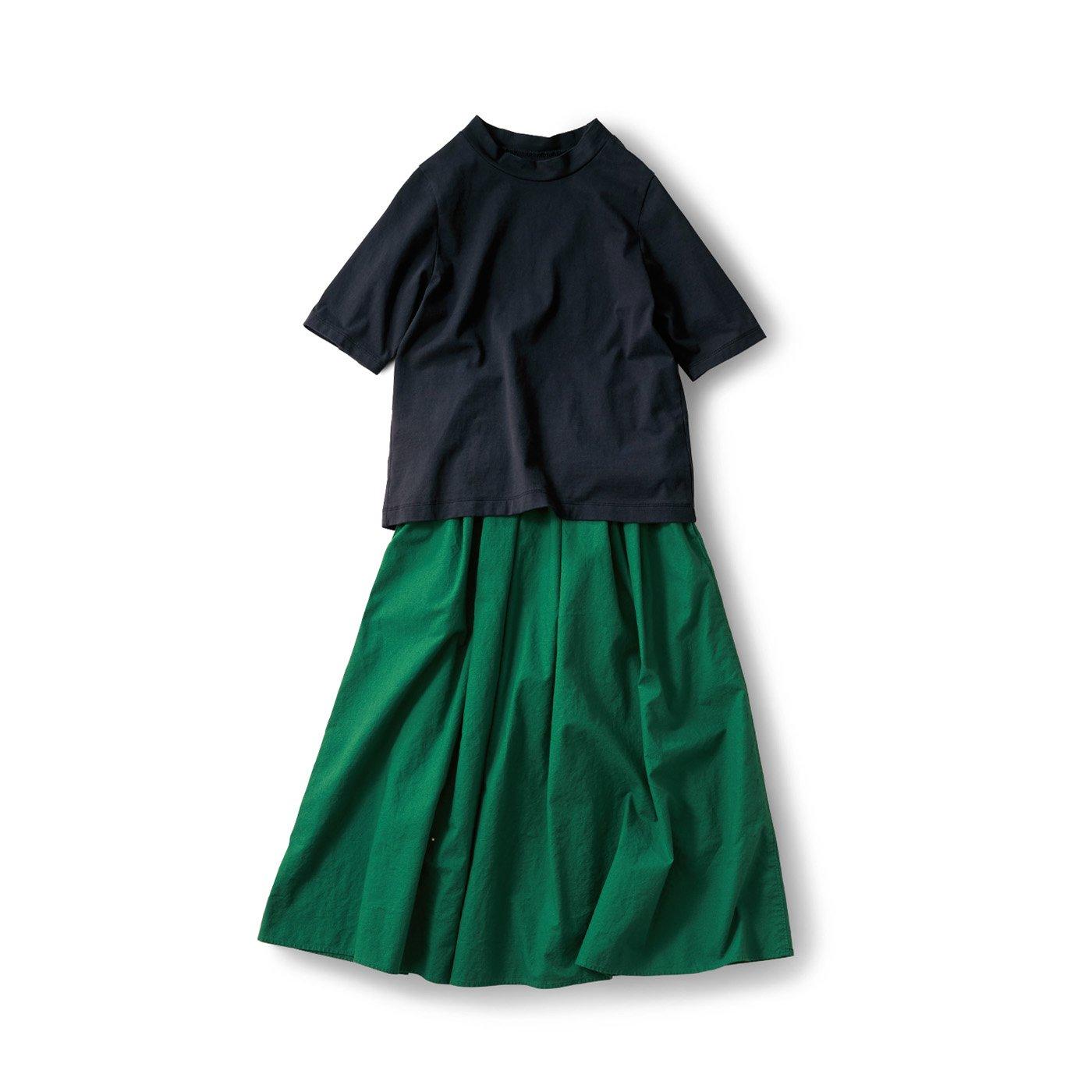 サニークラウズ 緑のスカートコーディネイト〈レディース〉