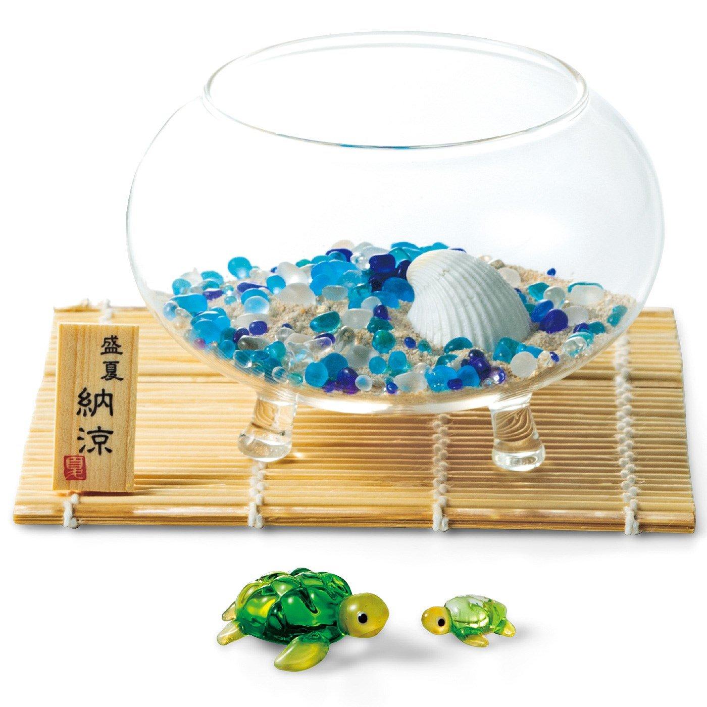 涼しげなガラス細工のプチインテリアの会(3回予約)