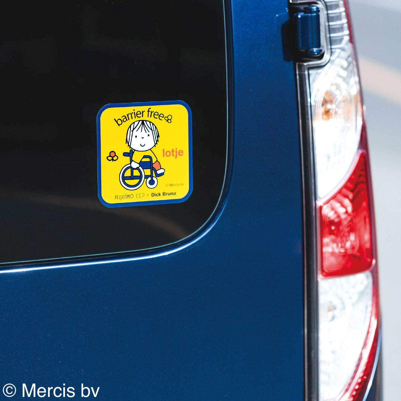 CCP×ディック・ブルーナ バリアフリー ロッテのラミネートカーステッカー