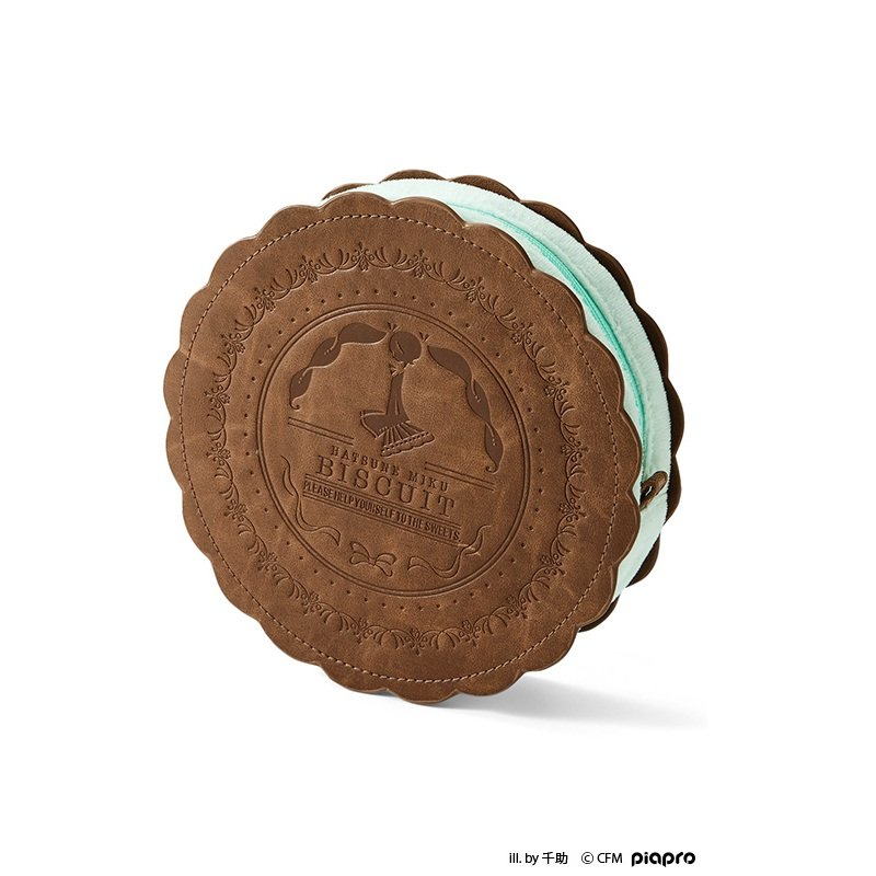初音ミク×スキヤキ ソーダクリームのクッキーポーチ