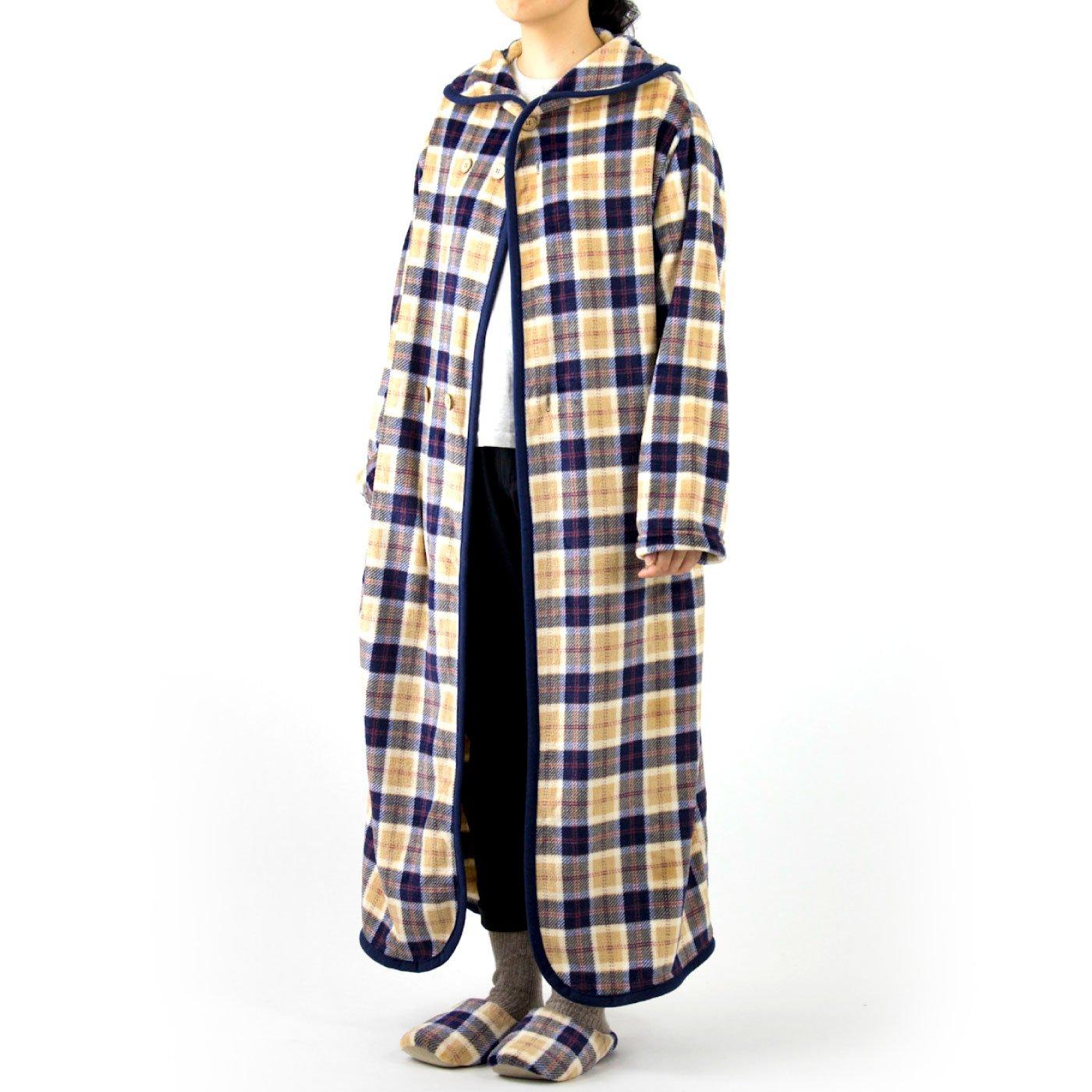 全身包み込まれてやみつき フランネル着る毛布