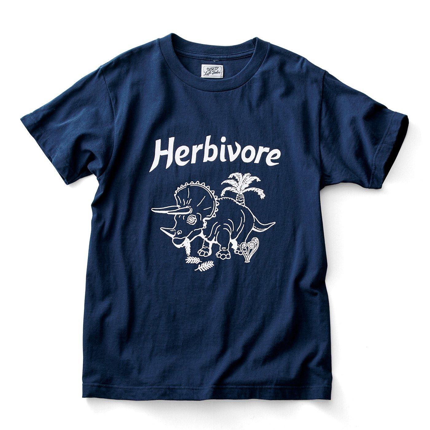 古着屋さんで見つけたような恐竜柄Tシャツ〈Herbivore 草食動物〉