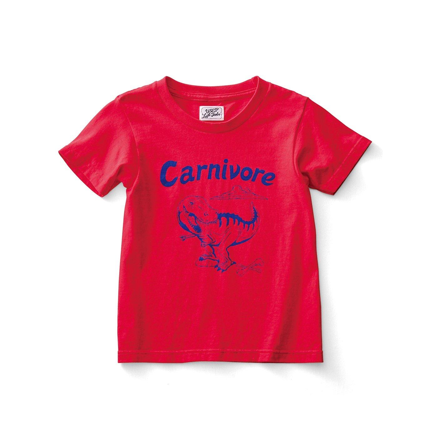 古着屋さんで見つけたような恐竜柄Tシャツ〈キッズ〉〈Carnivore 肉食動物〉