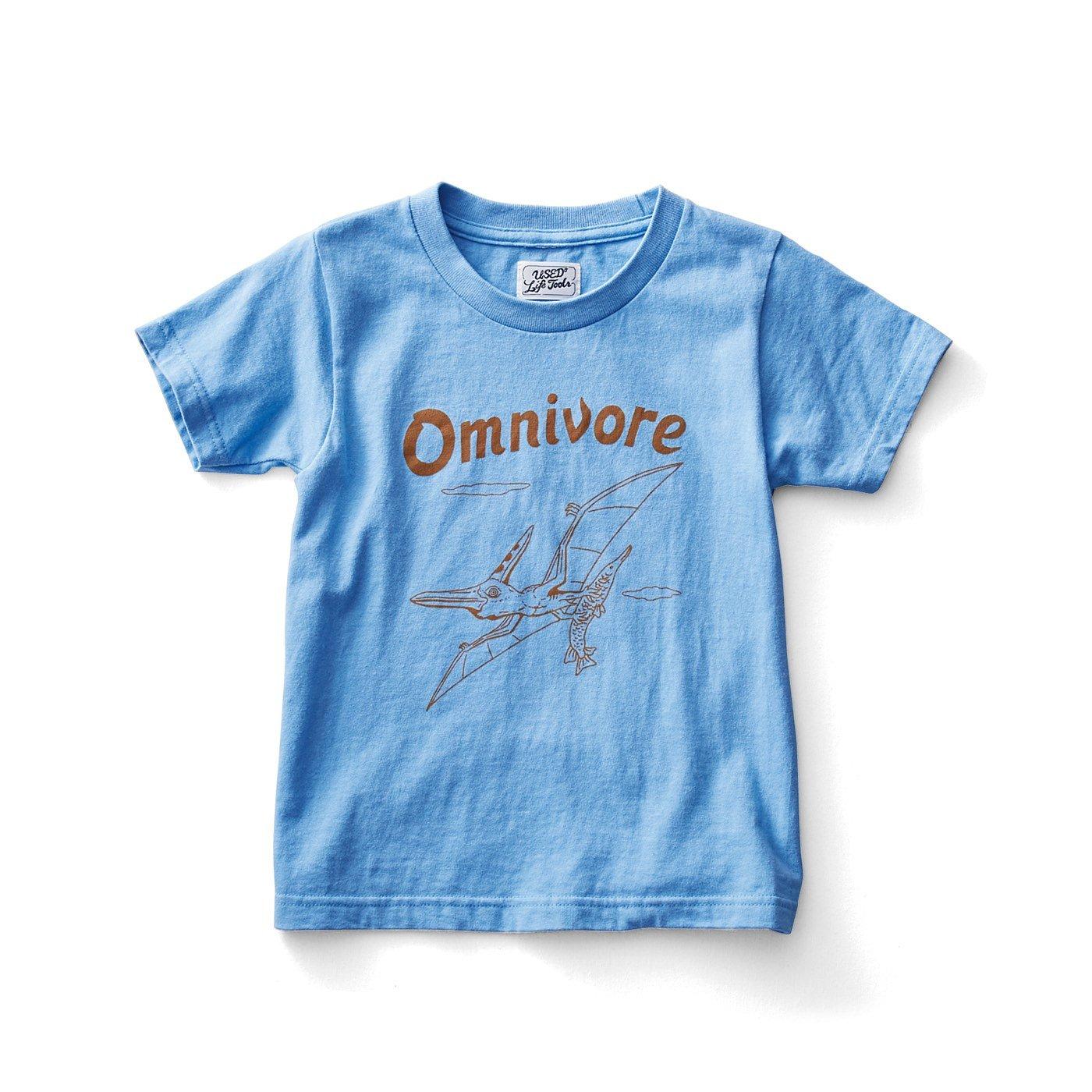 古着屋さんで見つけたような恐竜柄Tシャツ〈キッズ〉〈Omnivore 雑食動物〉