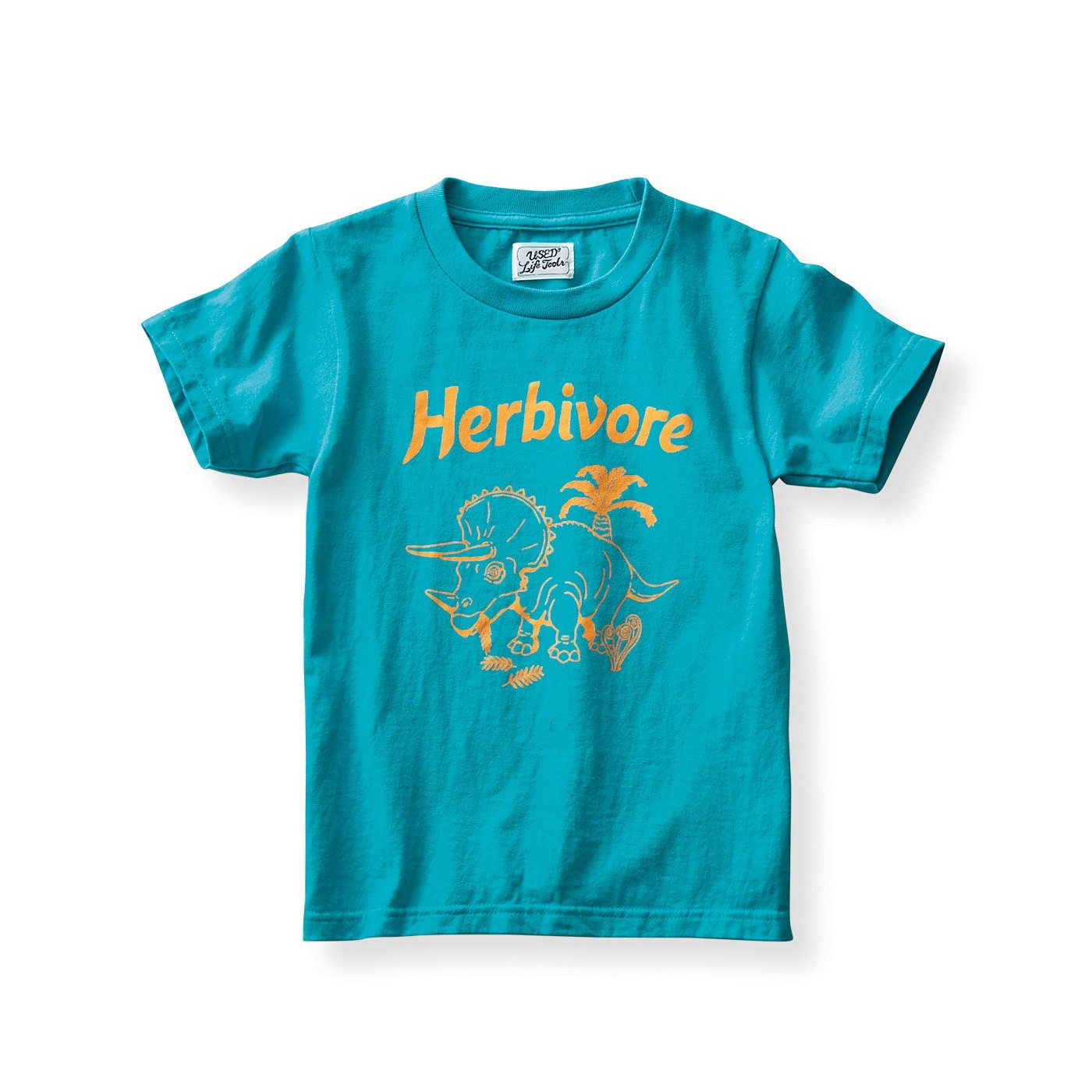 古着屋さんで見つけたような恐竜柄Tシャツ〈キッズ〉〈Herbivore 草食動物〉