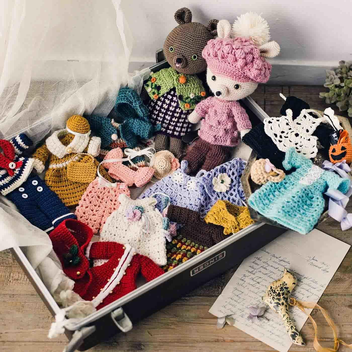 【クチュリエクラブ会員限定】ニットデザイナー気分で12ヵ月をコーディネイト かぎ針編みの着せ替えお洋服の会(期間予約)