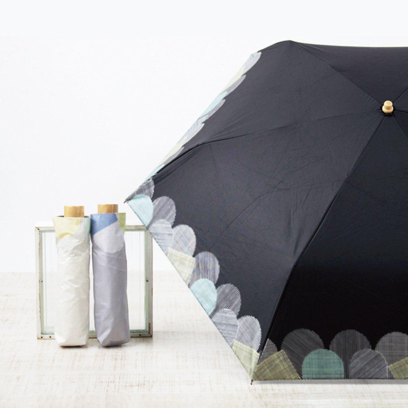 繊細な線模様がおしゃれな折りたたみ日傘