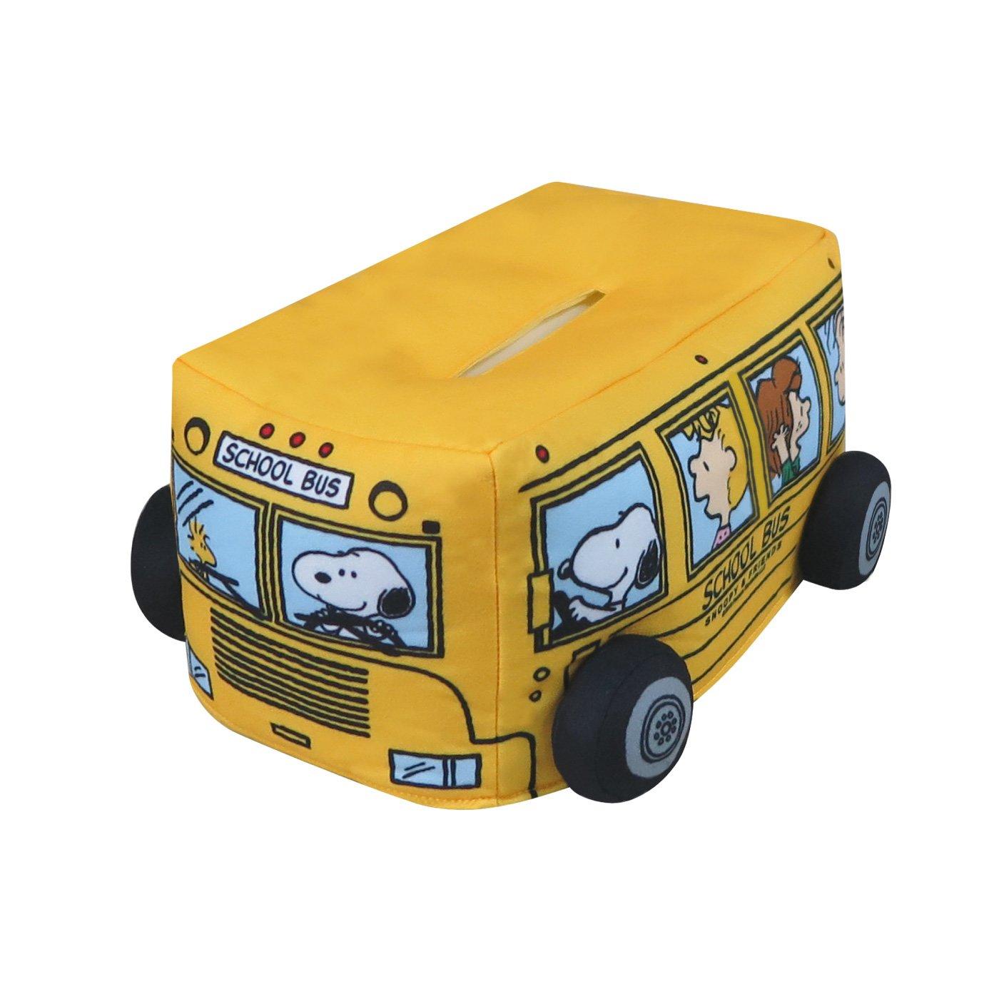 ぬいぐるみティッシュカバー スヌーピーとバス