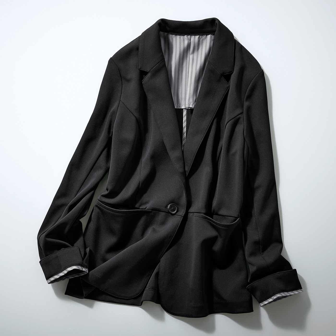 【3~10日でお届け】IEDIT[イディット] 花粉リリース&UVカットで快適優秀なバレエフィット(R)ジャケット〈ブラック〉