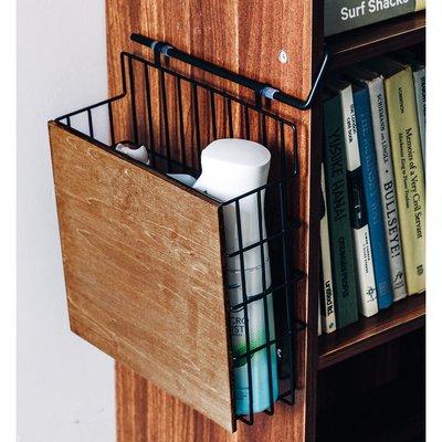 RoomClip商品情報 - 木とスチールの縦長引っ掛けラック〈ブラック〉の会 フェリシモ FELISSIMO