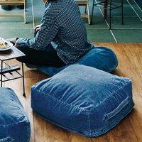 フェリシモ【定期便】新規購入キャンペーン アフィリエイトプログラムフェリシモ 古着屋さんで見つけたようなインディゴ染めコーデュロイザブトン