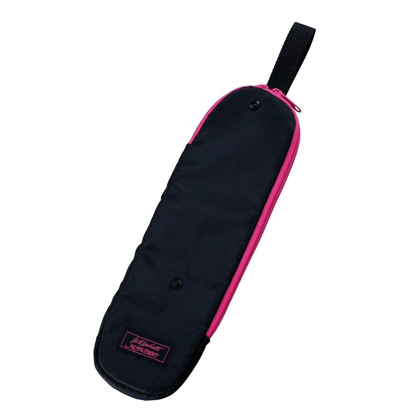 一時置き&持ち運びに便利!サイズ調整できる耐熱ヘアアイロンケース