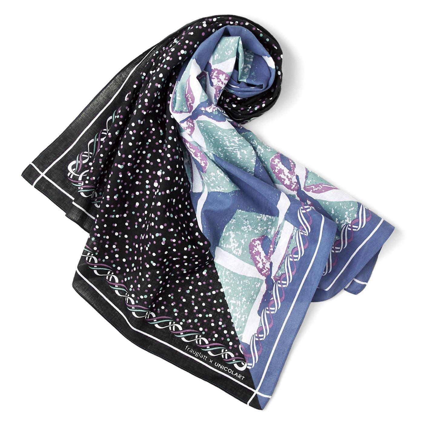 frauglatt×UNICOLART コットン100%ふんわりガーゼ もっとときめく よくばり大判スカーフ