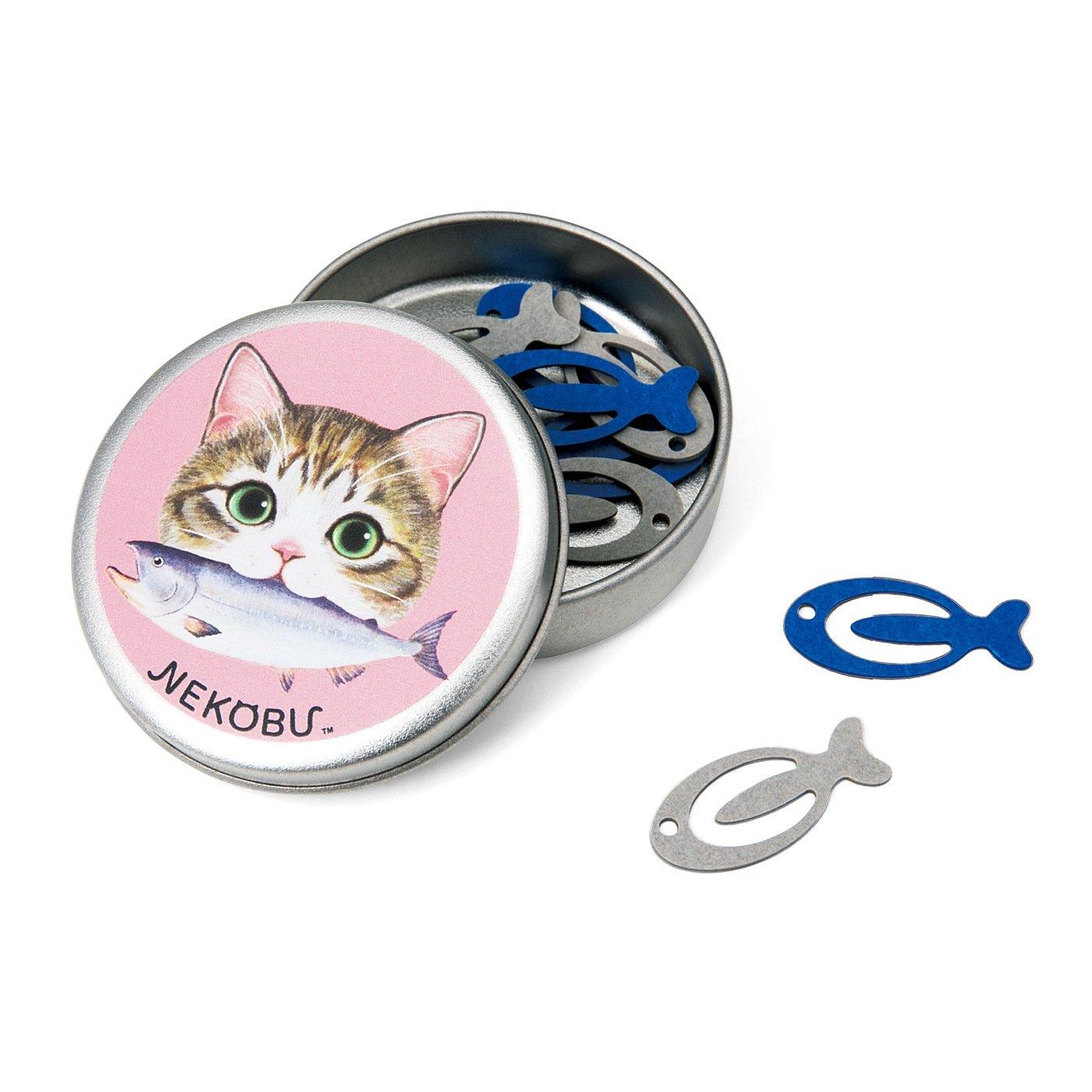 かわいいお魚クリップ入り ミニ猫缶