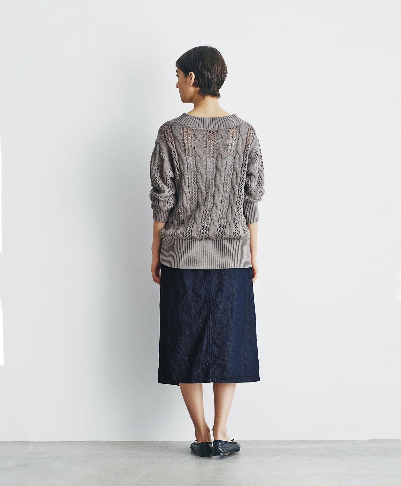 and myera デニムの台形スカート