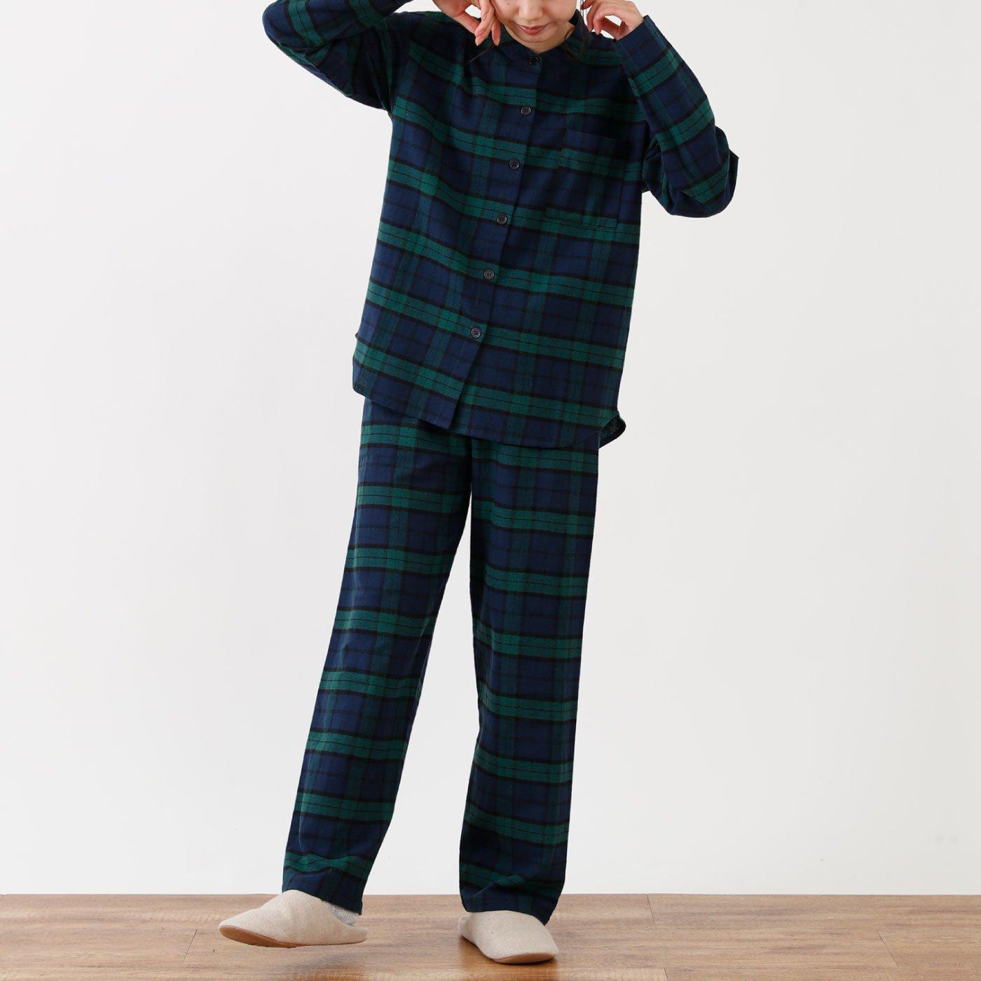ゆったりかわいい 前開きパジャマ