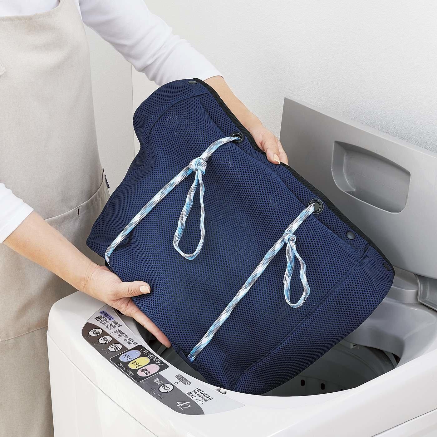 外出もおまかせ 中身が見えにくい 洗濯メッシュバッグ