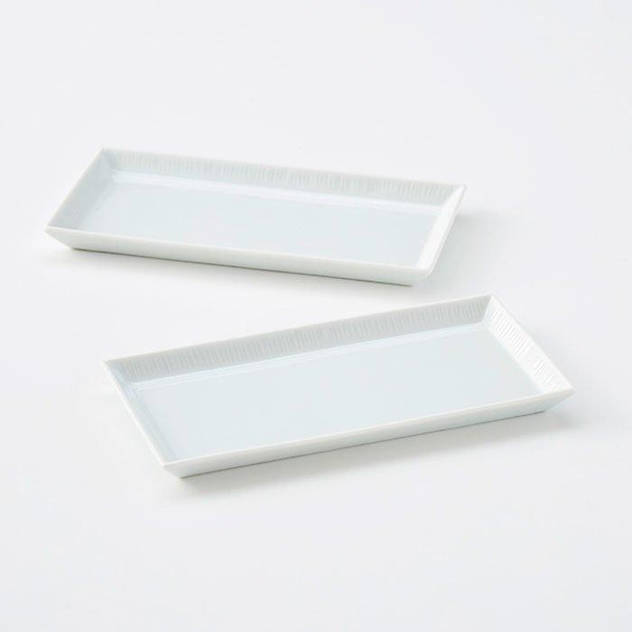 波佐見焼 テーブルにリズムが生まれる長方形ハーフプレート2枚セット