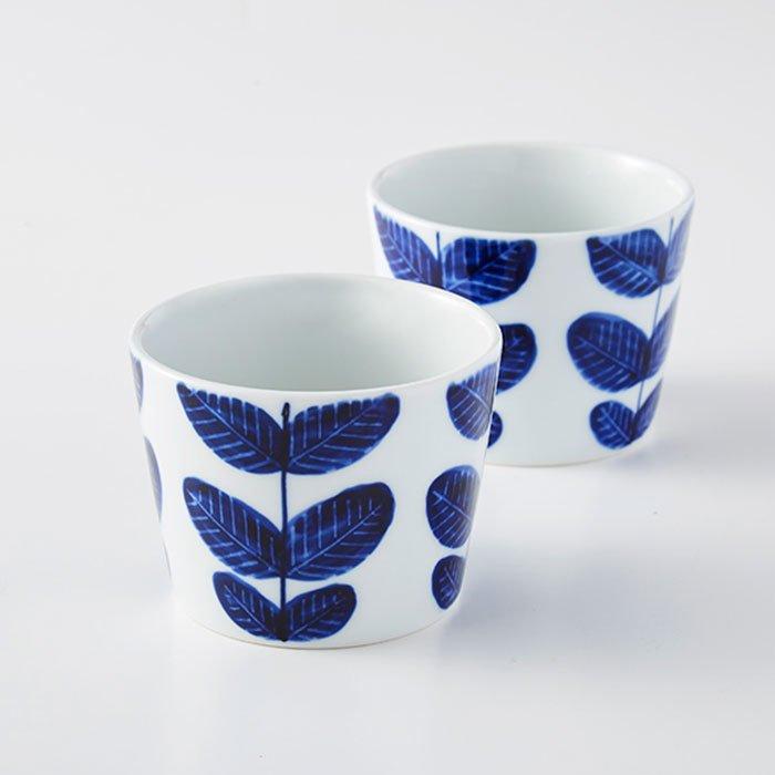 波佐見焼 aoba 手描きフリーカップ2個セット