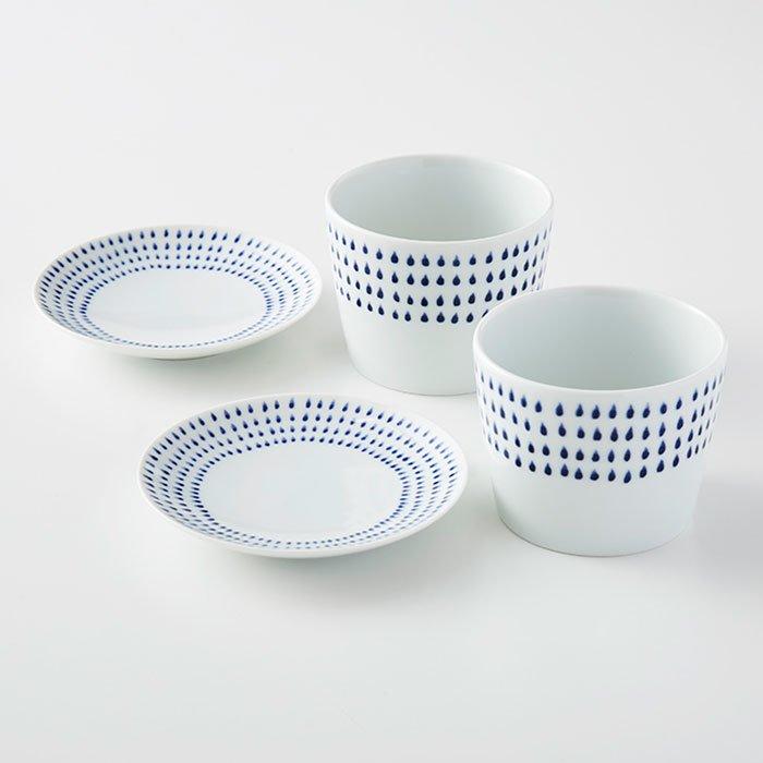 波佐見焼 ame フリーカップ&小皿セット