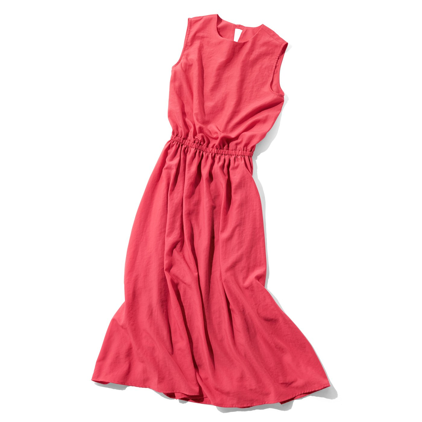 IEDIT 一枚で華やぐサマーロングドレス〈コーラルレッド〉