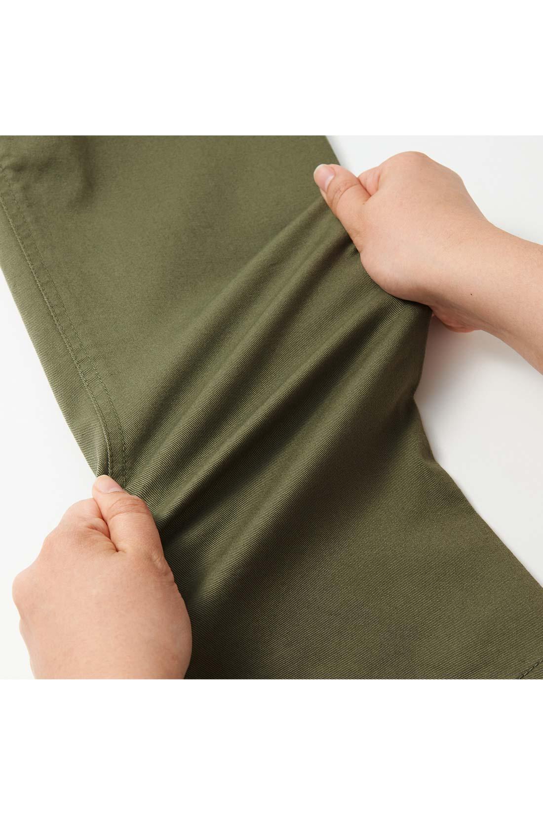 伸びやかストレッチ アクティブに動けるストレッチ素材。
