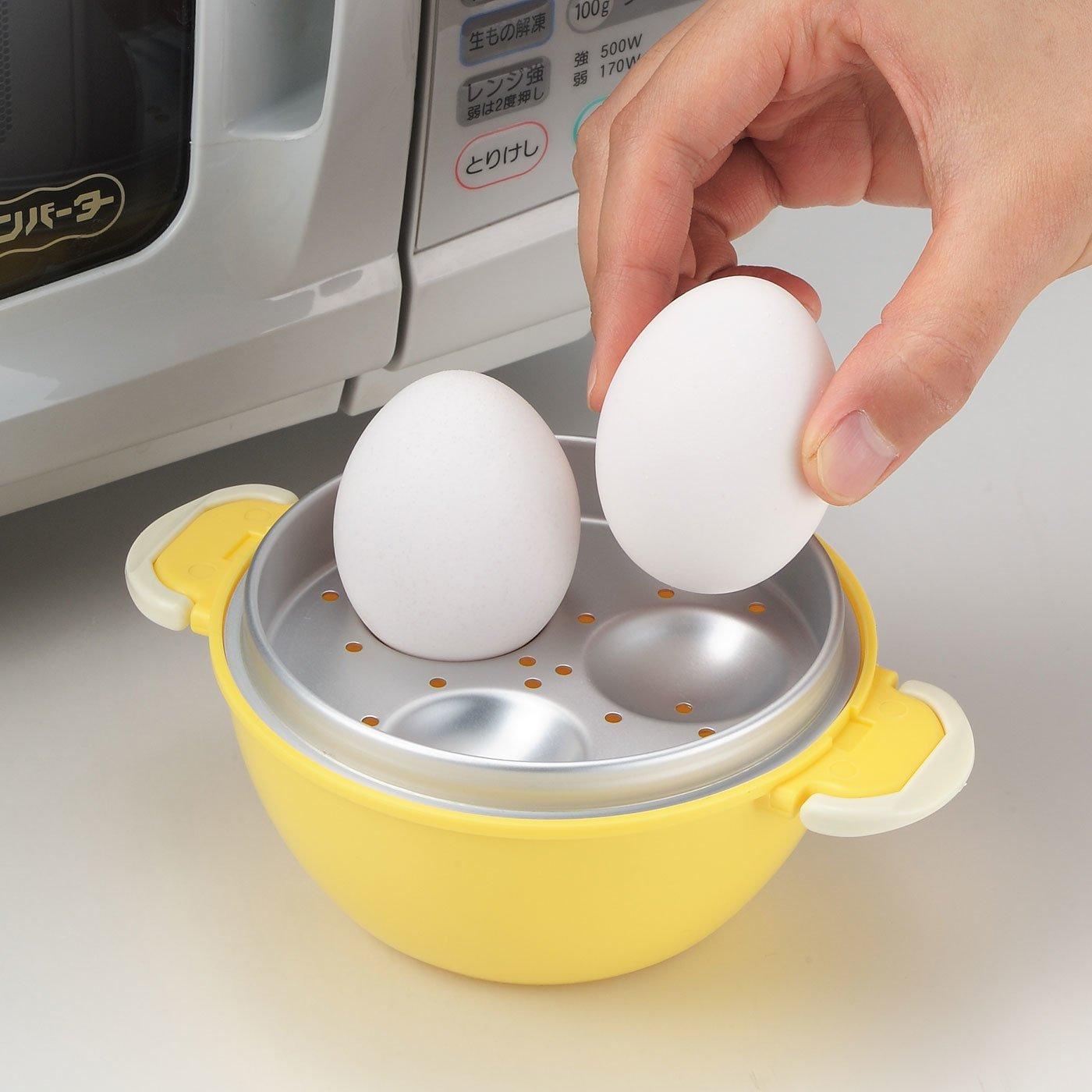 水を入れてレンジで加熱するだけ 好みのかたさに調節できるゆで卵メーカー