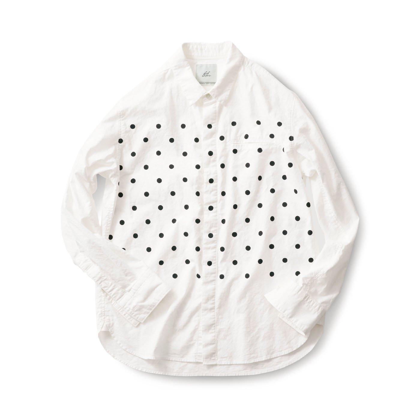サニークラウズ  bonの水玉シャツ〈メンズ〉