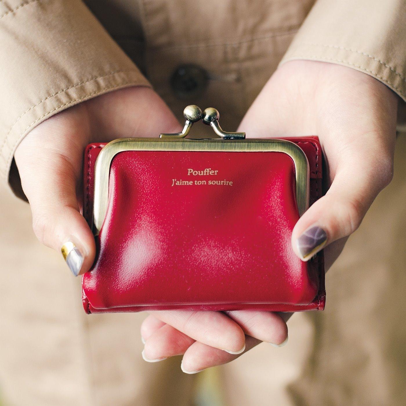 最小限を連れてって 真っ赤なりんご色のちっちゃめ手のり財布
