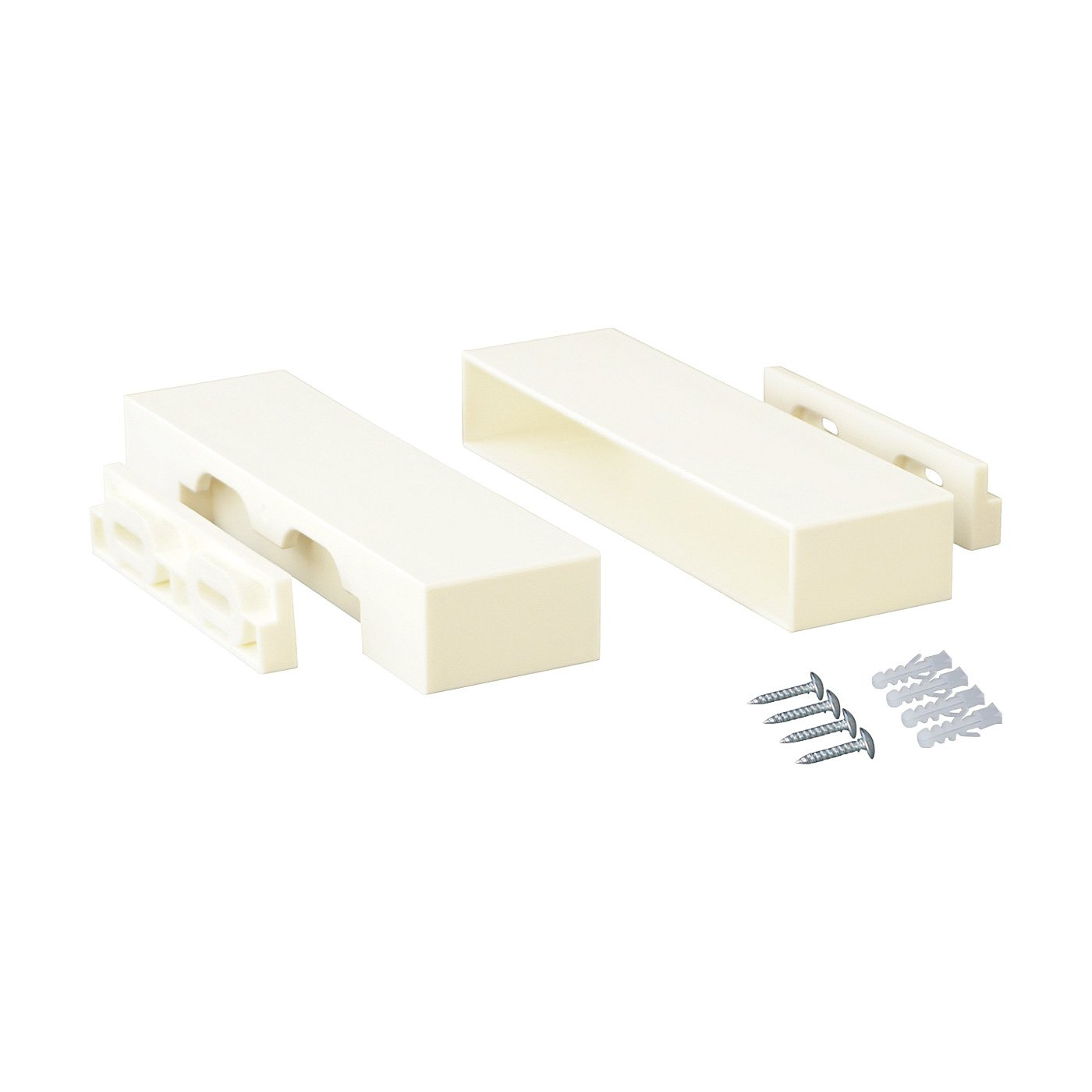 木材1本からはじめるお手軽DIY 棚を増やしてカスタマイズ 1×6棚受用アジャスター〈14.6cm・ホワイト〉