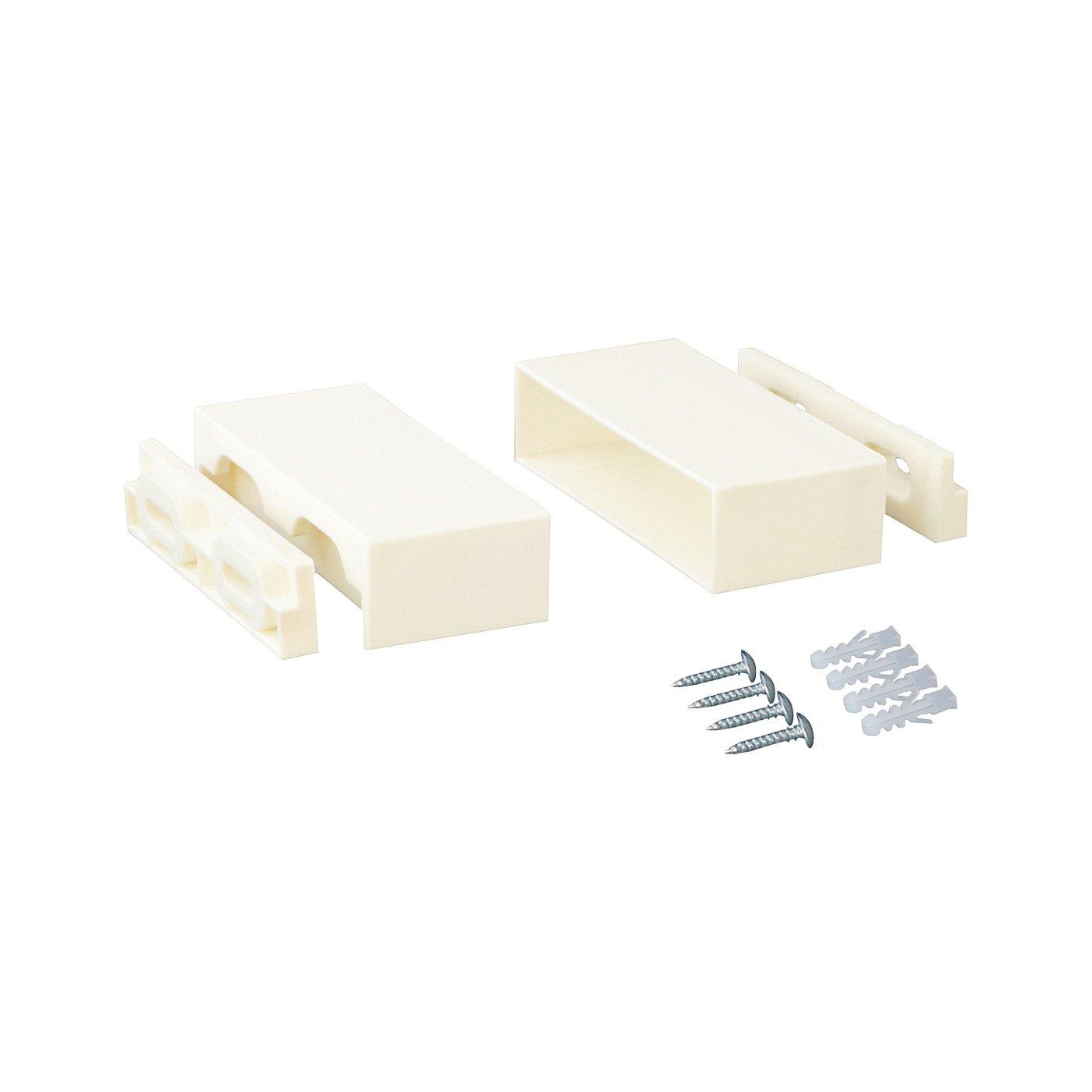 木材1本からはじめるお手軽DIY 棚を増やしてカスタマイズ 1×4棚受用アジャスター〈9.5cm・ホワイト〉