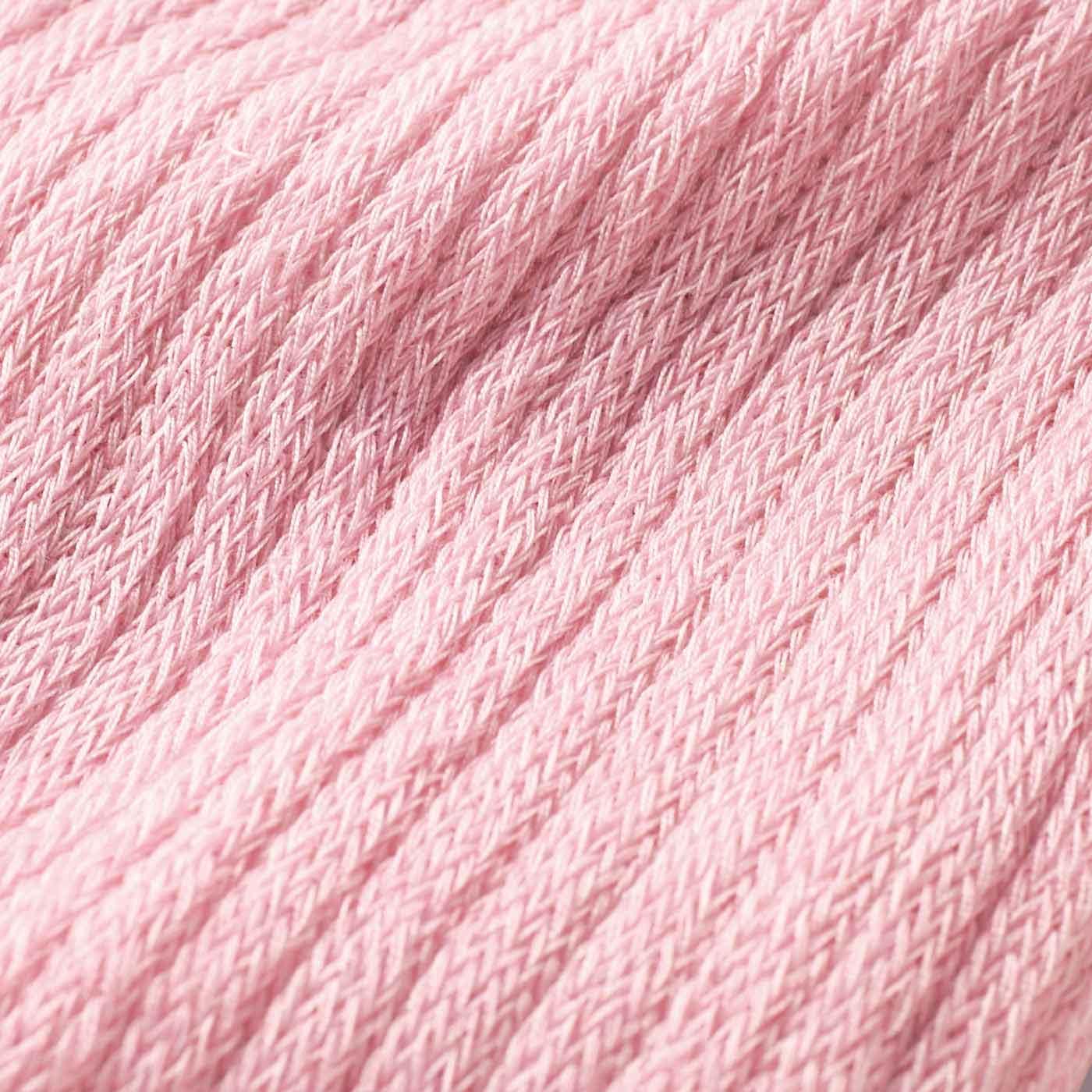 表側 ゆるく編み立てた、やわらかな肌ざわり。