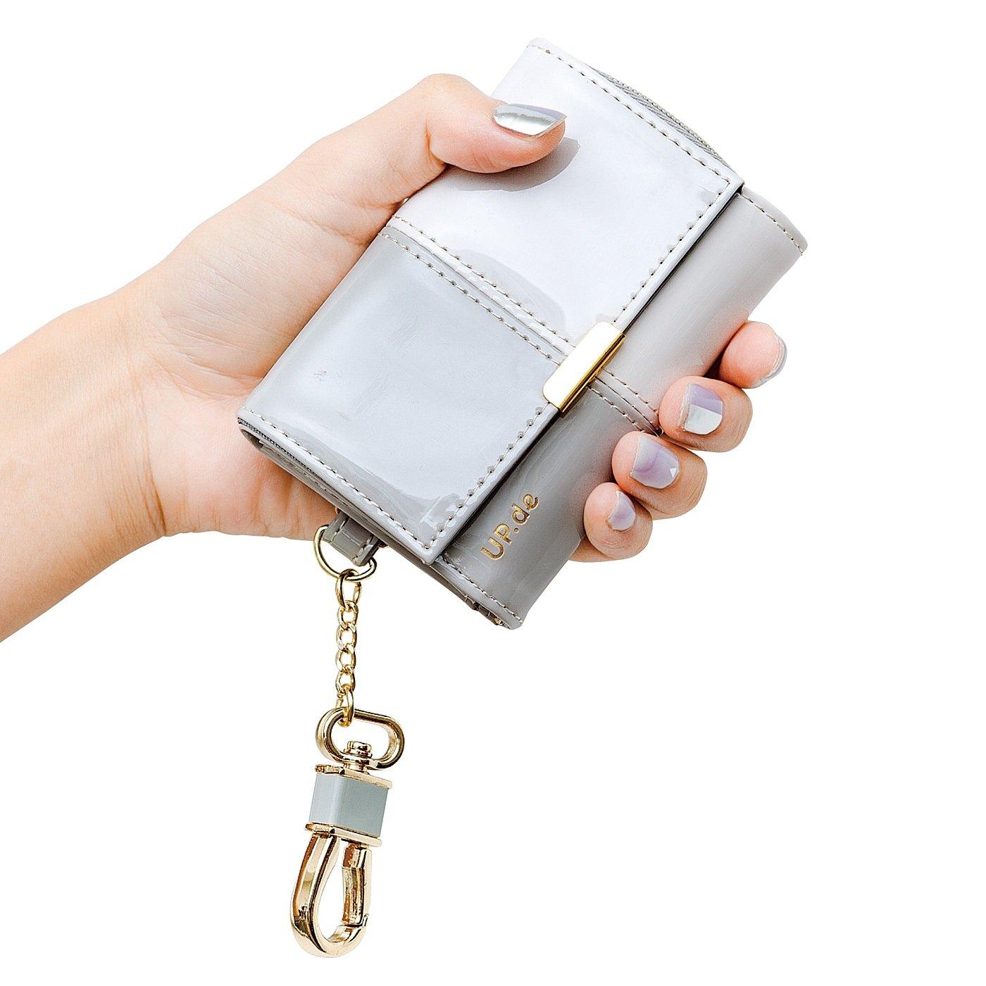 UP.de キーリング付き 必要なものがきちんと収まる 手のひらサイズの大人エナメル財布の会