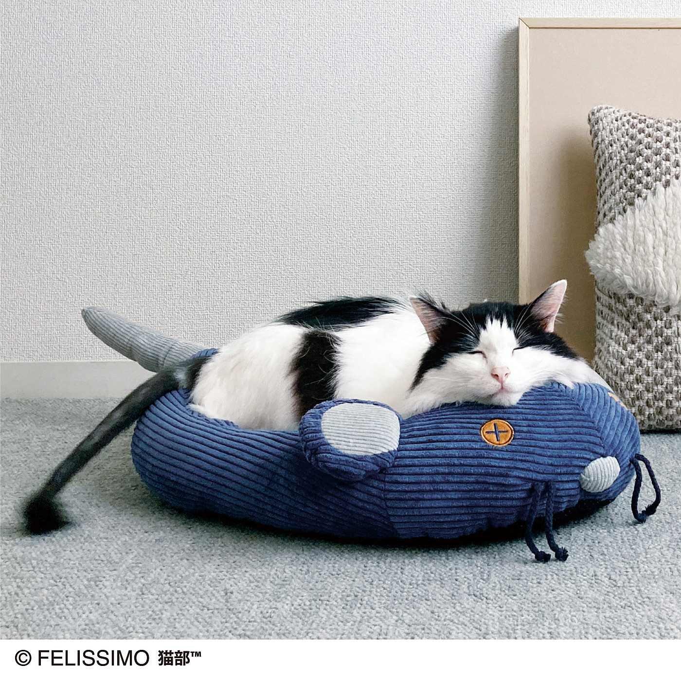 お耳がピコピコ動くチュー 遊んでくつろげるネズミさんベッドの会
