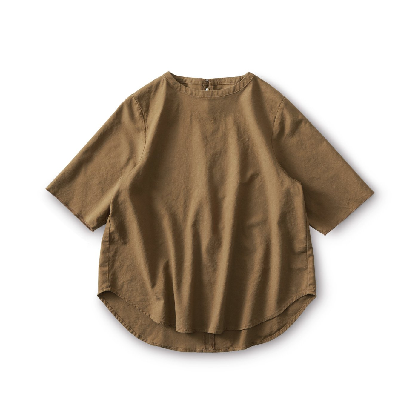 and myera 布はくのTシャツ〈ブラウン〉