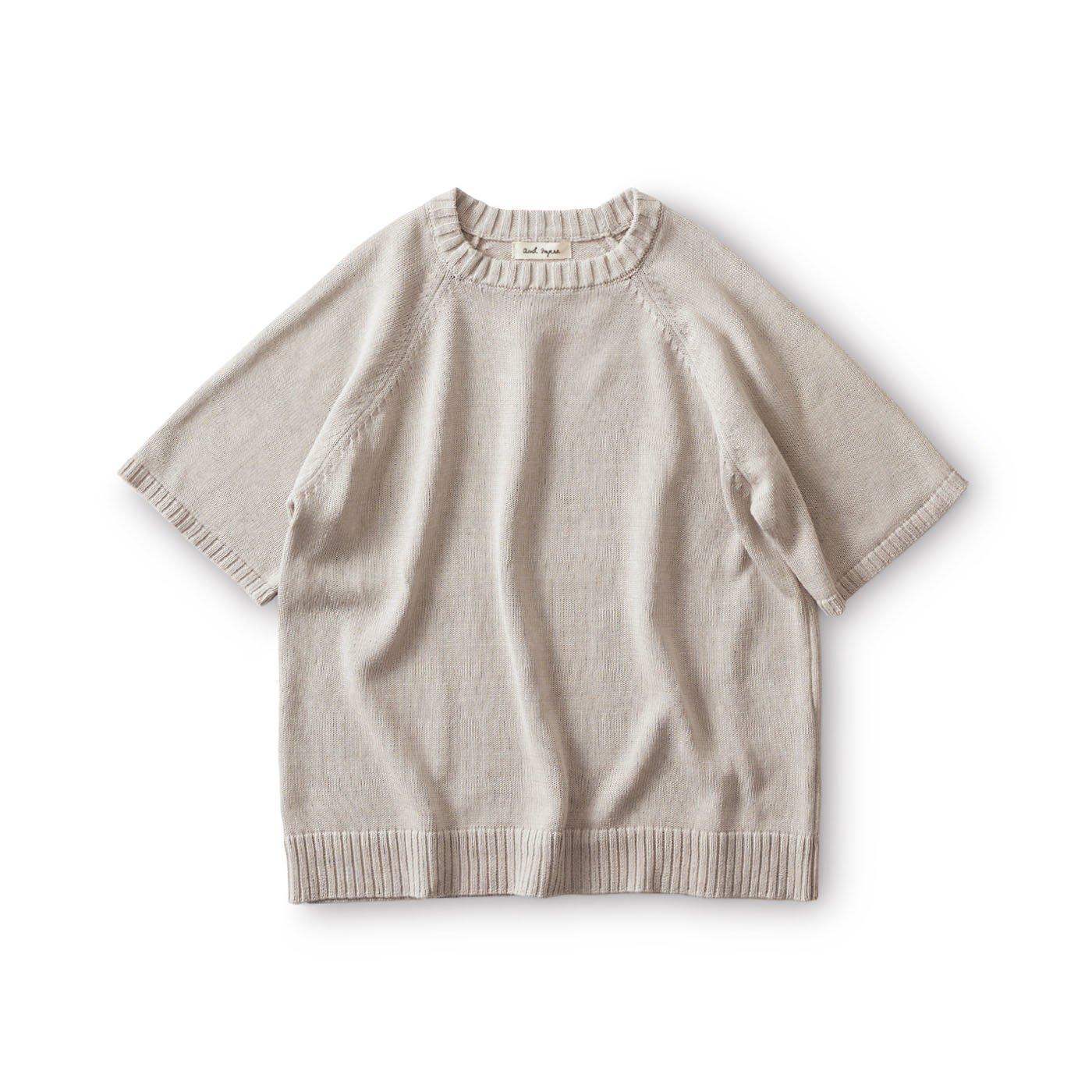 and myera 夏のためのセーター〈グレー〉