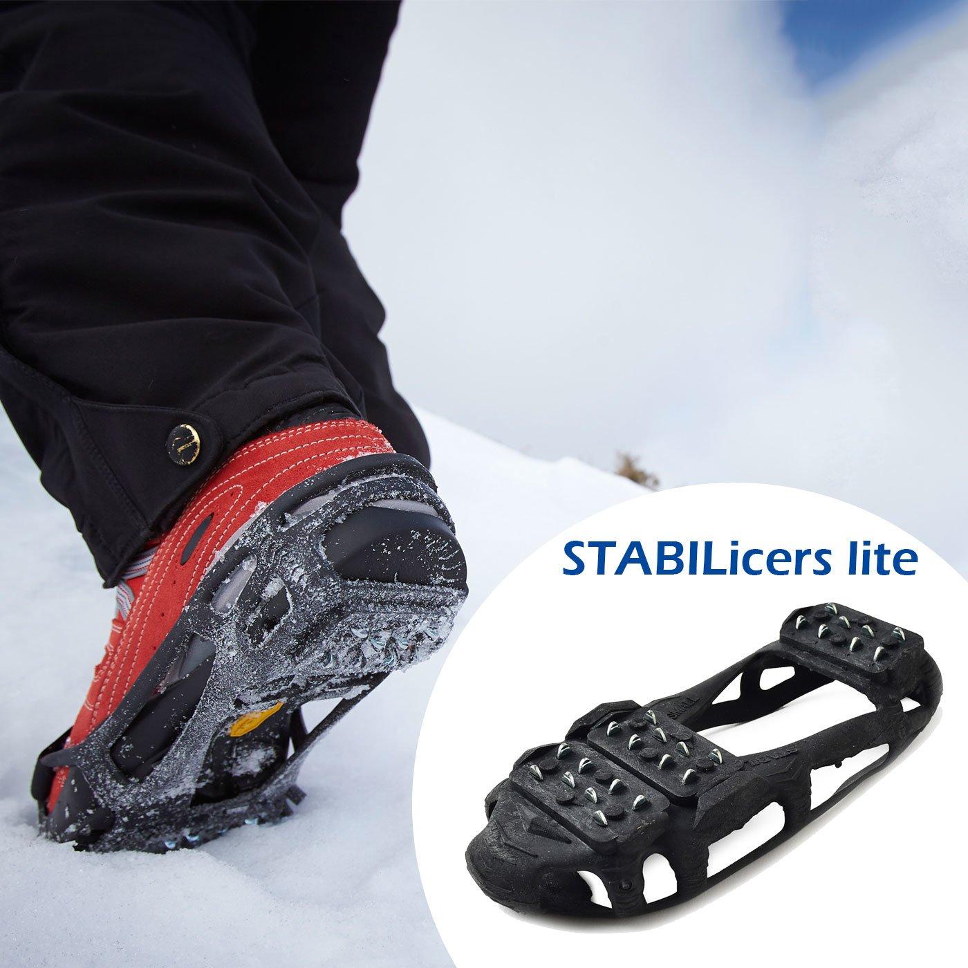 雪や氷の上で滑らない靴用アタッチメント スタビルアイサーライト スノー&アイスウォーカー(ポーチ付き)