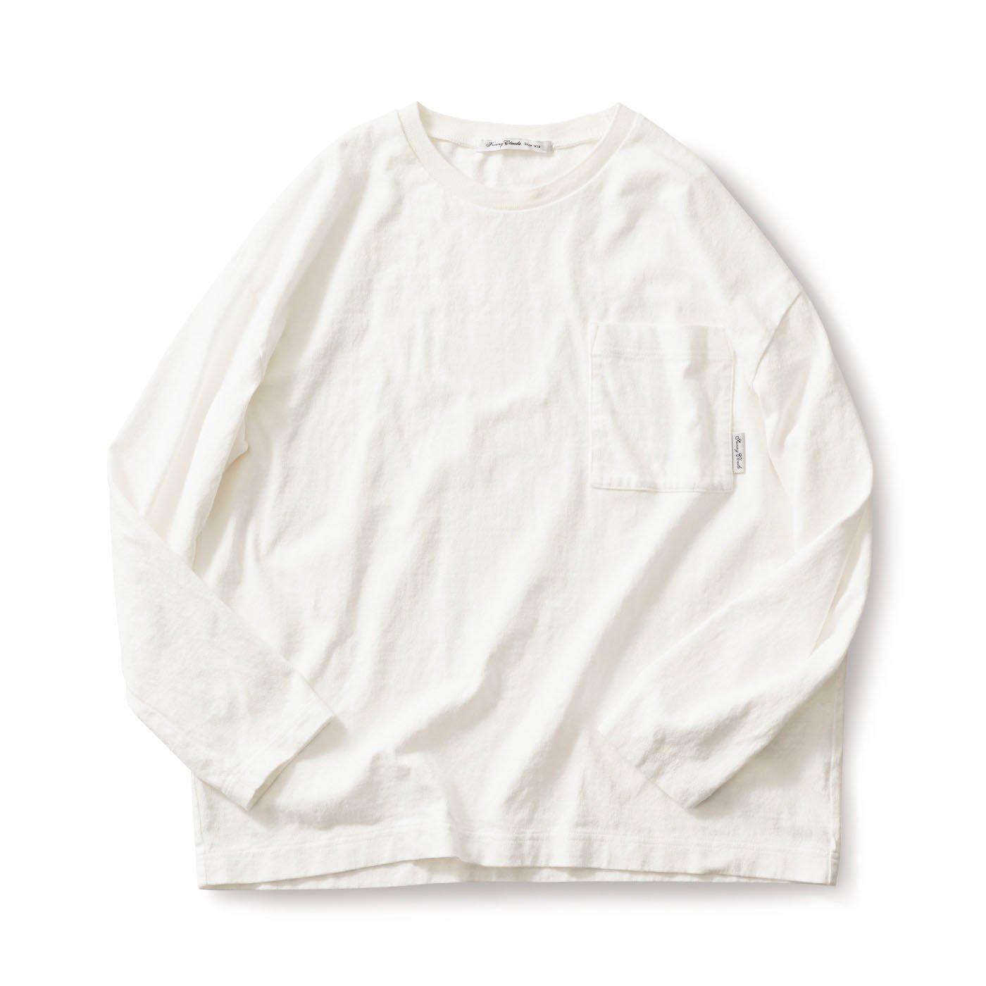 サニークラウズ  一枚で様になるTシャツ〈メンズ〉オフ白