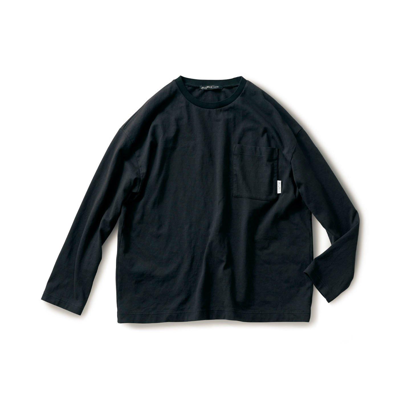 サニークラウズ  一枚で様になるTシャツ〈メンズ〉黒
