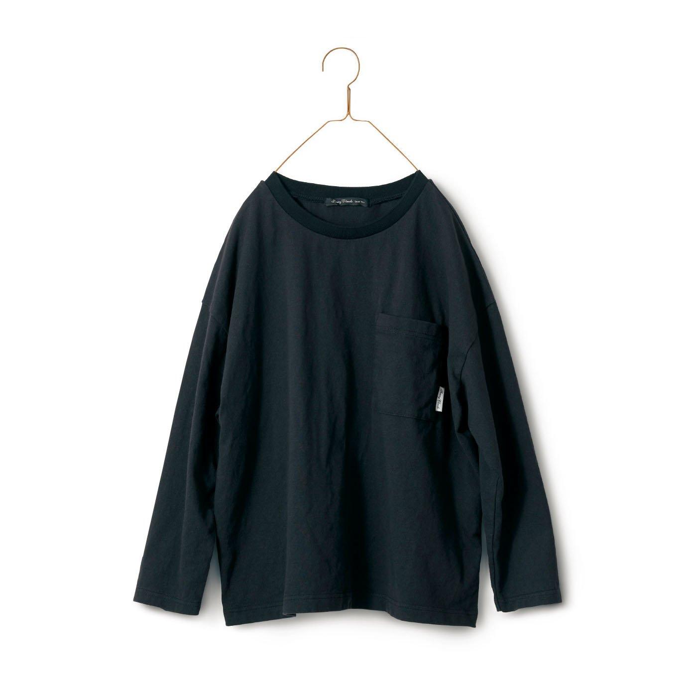 サニークラウズ  一枚で様になるTシャツ〈レディース〉黒