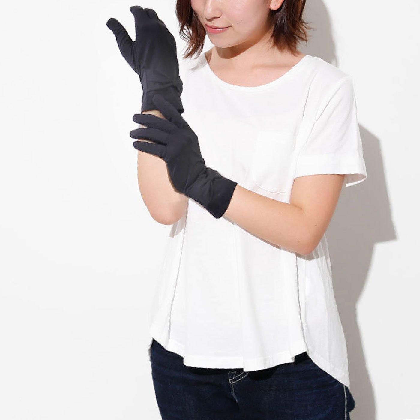 可憐な袖口リボン 抗菌&UV手袋
