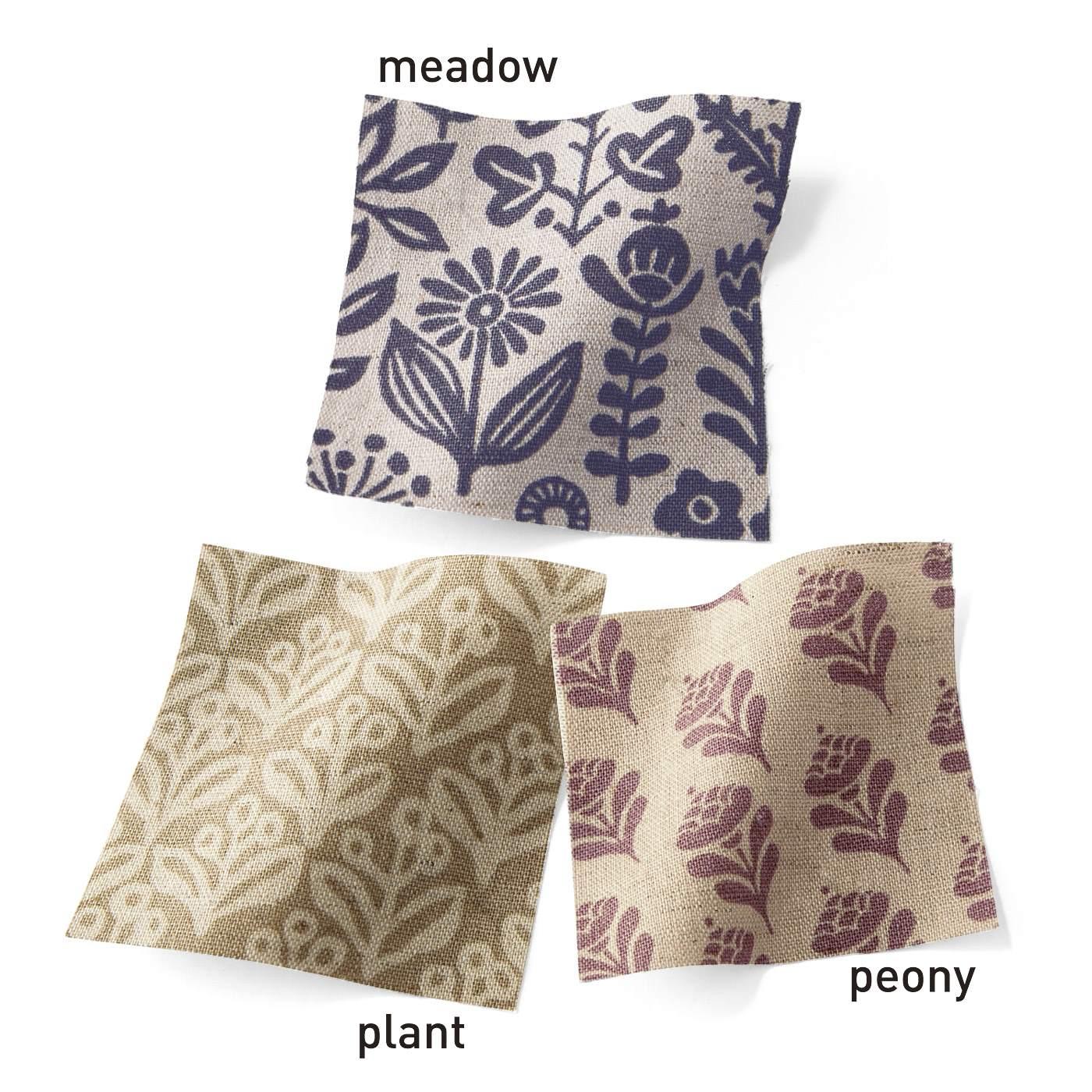 ●この3種類の中からお届けします。綿・麻混の肌ざわりのよい素材。