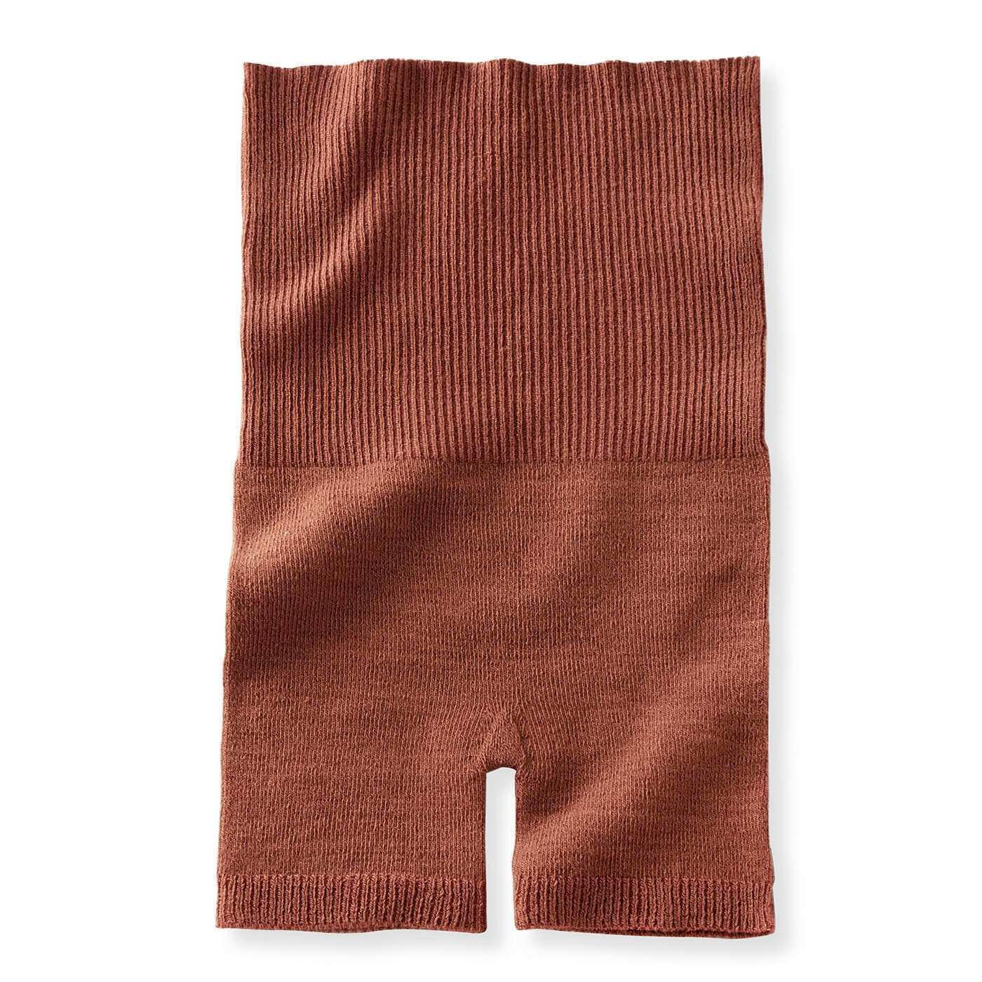 ホールガーメント(R)の贅沢(ぜいたく)仕立て はらまき付きロングパンツ〈キャメル〉