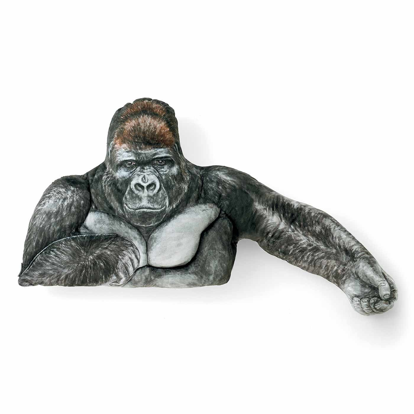 YOU+MORE! 強さとやさしさをあわせ持つ ニシゴリラ シャバーニのたくましい腕枕クッション