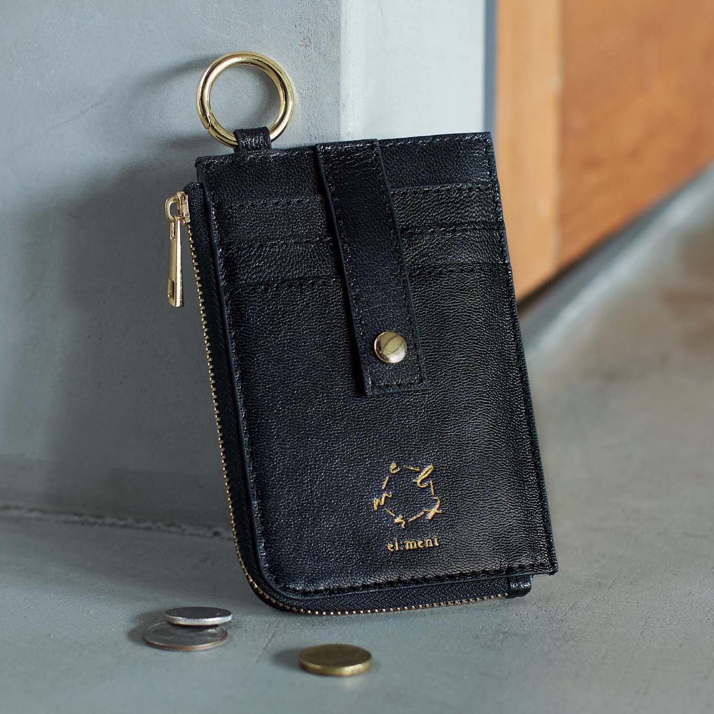 el:ment 味わい育てるしなやか本革 スリムなのにたくさん入る ミニマル財布