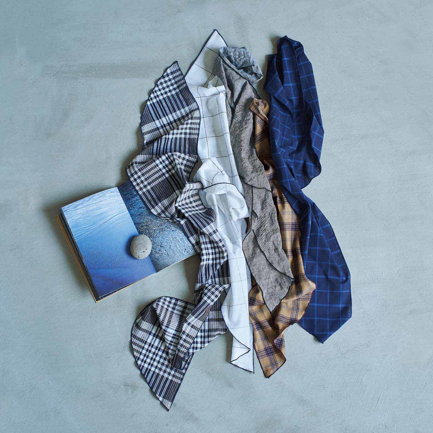 el:ment いつもの装いが華やぐ マルチに使える播州織スカーフの会